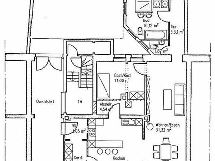 3 Zimmer Wohnung ab 01.01.19 zu vermieten. Erstbezug nach Komplettsanierung!