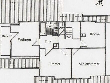 3-Zi-Whg, Baiersbronn-Huzenbach, 68 qm, EBK, Bad, WC, Balkon, Stellpl. ab Mai 18, WM 550 EUR