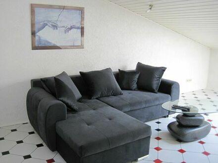ruhige, gepflegte 2-Zimmer-Wohnung, komplett möbliert, für Pendler/Monteur