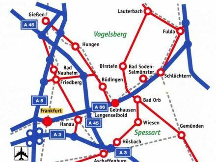 Im Speckgürtel von Ffm, im nördlichen Main Kinzig Kreis: Massivhaus mit Walmdach und Kamin, Bj. 1991