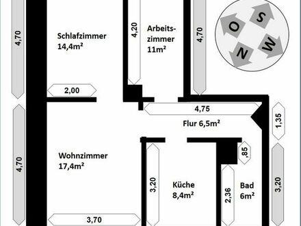 Erstbezug nach Kernsanierung - 3-ZKB in Mannheim Rheingoldstraße 10x zu ab August zu vermieten