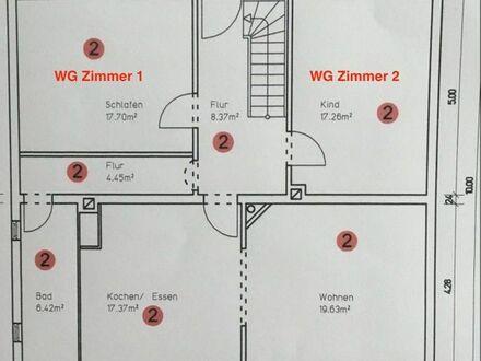 3- Zimmer-Wohnung als 2er WG, inkl. Küche