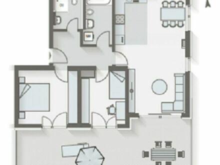 Erstbezug! 3 Zimmer Dachterrassen-Wohnung - neue EBK (Kochinsel) Neubau, Unterhaching ab 01.03.2019
