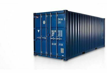Lager-Garage-Container-Archiv-Selfstorage mit Licht und Strom