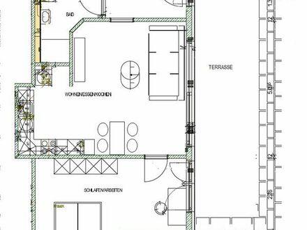 neue möblierte 2 Zimmer Wohnung