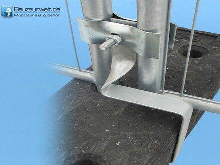 10 Stück Aushebesicherung für Bauzaun - verhindert Ausheben der Bauzäune aus den Füße inkl. Versand