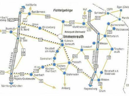 Zu vermieten: Immenreuth - renovierte, attraktive, Teilmöblierte, 2-Zimmer-Wohnung, ca. 75 qm