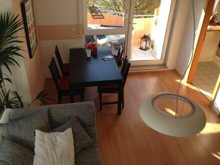 Neuwertig möblierte, sonnige 2 - Zi - Wohnung mit Balkon und EBK zu vermieten