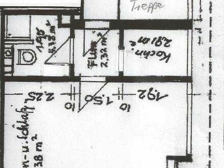 1-Zimmerwohnung, Küche, Bad