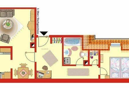 Vollmöblierte, hochwertige 2 Zimmer Küche Bad Wohnung Ludwigshafen