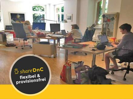 Freier Arbeitsplatz zur Teilnutzung in ruhiger Bürogemeinschaft - All-in-Miete