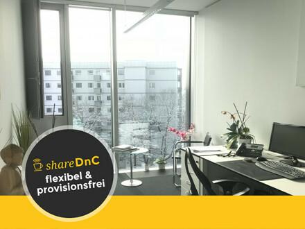 Lichtdurchflutete, verglaste neue Büros mit Bergblick - All-in-Miete