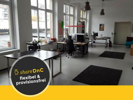 Arbeitsplätze in Bürogemeinschaft mit Berliner Hinterhof Lage - All-in-Miete