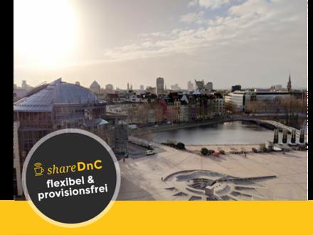 Top Büroräume oder Arbeitsplätze im Mediapark mit toller Aussicht - All-in-Miete