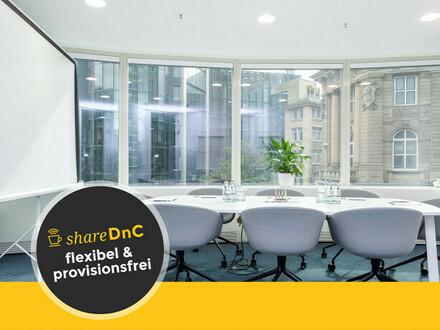 Modern gestaltete Büroräume und Arbeitsplätze mit Skyline-Blick - All-in-Miete