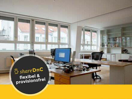Freie offene Arbeitsplätze in Bürogemeinschaft im Stuttgarter Osten - All-in-Miete