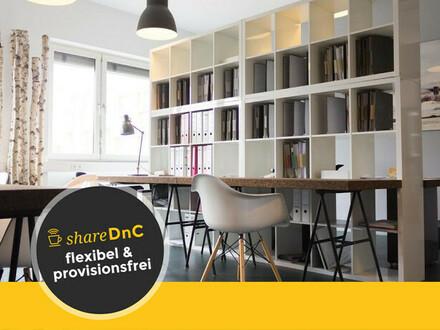Schreibtischplätze mit Blick auf den Main im Frankfurter Ostend - All-in-Miete