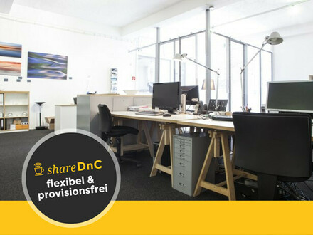 Arbeitsplatz mit kompletter Infrastruktur in loftartigem Büro - All-in-Miete