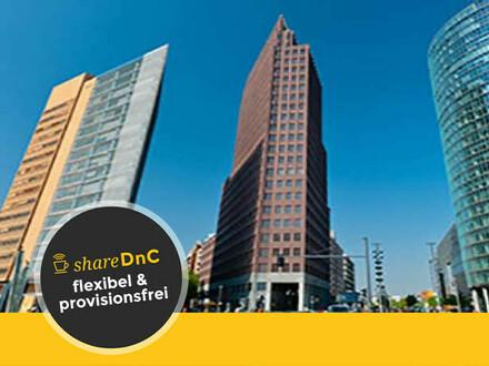 Flexible luxuriöse Büroräume und Coworking im P1 am Potsdamer Platz - All-in-Miete