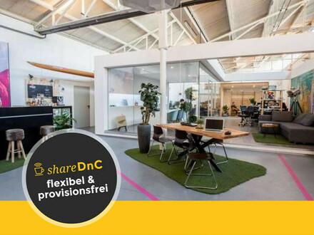 Flexible oder feste Coworkingplätze mit Industriecharme - All-in-Miete