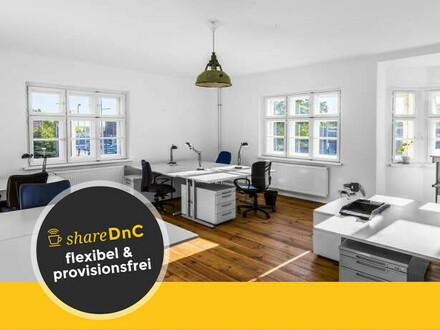 Arbeitsplätze und Büroraum in schönem Coworking Space mit Garten - All-in-Miete