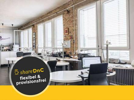 Helle und offene Bürofläche in Loftbüro im Frankfurter Ostend - All-in-Miete