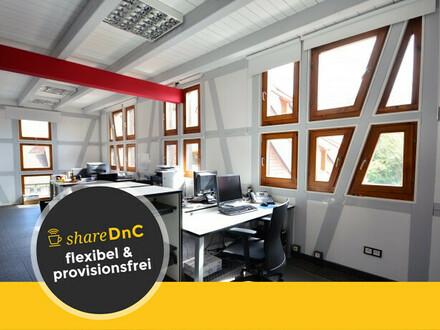 Moderne Arbeitsplätze und Büroraum in historischem Fachwerkgebäude - All-in-Miete