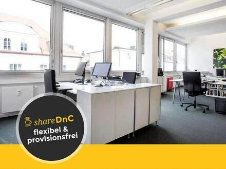 Voll ausgestattete Arbeitsplätze in offenem Loftbüro - All-in-Miete