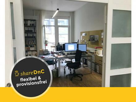 Helle Büroräume und Arbeitsplätze in kreativer Bürogemeinschaft - All-in-Miete