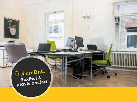 Schöne Arbeitsplätze in kreativer, flexibler Bürogemeinschaft - All-in-Miete
