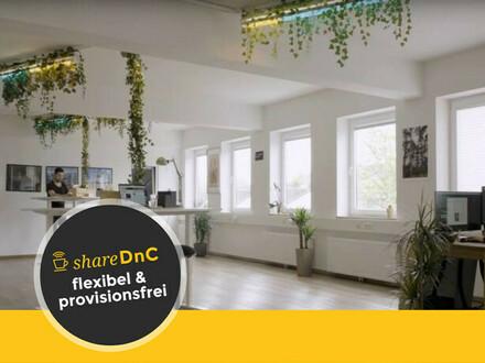 Flexible Arbeitsplätze in netter offener Bürogemeinschaft - All-in-Miete