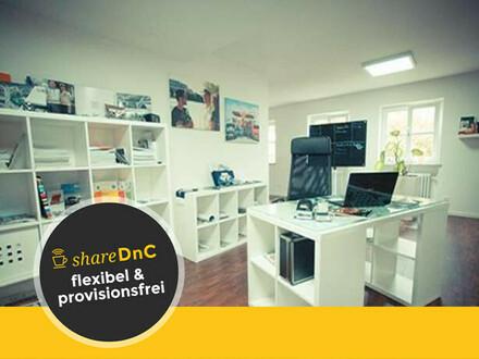 Modernes, offenes Büro mit Einzelarbeitsplätzen - All-in-Miete
