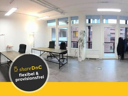 Großer Büroraum in junger Bürogemeinschaft im Bergmann Kiez - All-in-Miete
