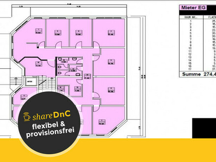 Verschiedene Büroräume in zentraler Lage in Ingelheim - All-in-Miete