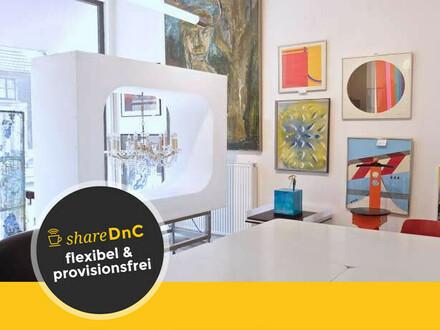 Helle, möblierte Arbeitsplätze in Galerieloft mit Dielenboden - All-in-Miete
