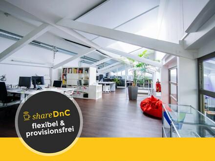 Bürofläche für 4 – 6 Arbeitsplätze in loftähnlicher Halle - All-in-Miete