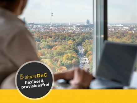 Rooftop Coworking Space mit Panoramablick über München - All-in-Miete