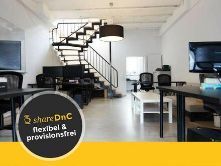 Arbeitsplätze oder auch eigener Büroraum im Loft in Startup Atmosphäre - All-in-Miete