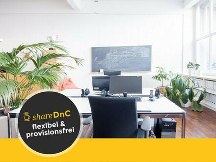 Arbeitsplätze in einem Industrie-Loft Büro in Heerdt - All-in-Miete
