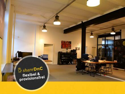 Flex Desk - Schreibtischplätze in Hinterhof-Loft - All-in-Miete