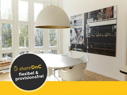 Stilvoller Büroraum in einem prunkvollen Altbau in der Südstadt - All-in-Miete