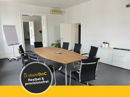 Büroraum und Arbeitsplätze mit Blick auf den Pfaffenteich - All-in-Miete