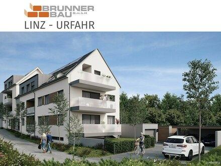 NEUBAU - Anlegerwohnung in Linz Urfahr mit südseitiger Loggia - Carport u. Lift