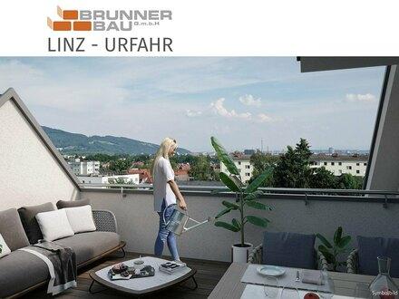Neubau - Dachgeschoßwohnung in Linz-Urfahr mit eigener Wohnungs-Liftfahrt und großer Dachterrasse!