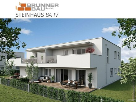 Steinhaus | Hochwertige 4-Raum-Gartenwohnung - Neubau - werthaltige Ziegelmassivbauweise in Niedrigenergiebaustandard m…