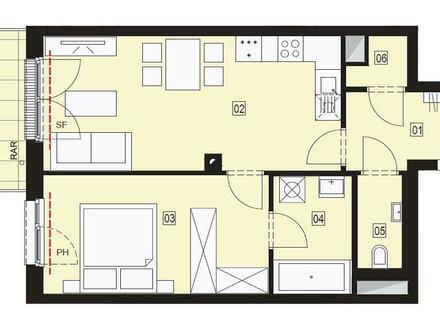 Perfekt aufgeteilte 2-Zimmer Wohnung zu vermieten - Erstbezug!