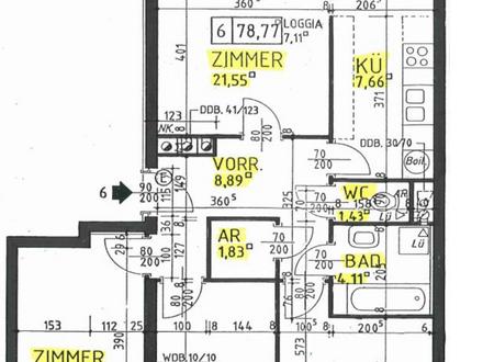 TOP Eigentumswohnung in Absdorf bei Tulln, 78,77m² - 4 Zimmer, ab 01. 01. 2018 provisionsfrei um € 165.000,- zu verkaufen.