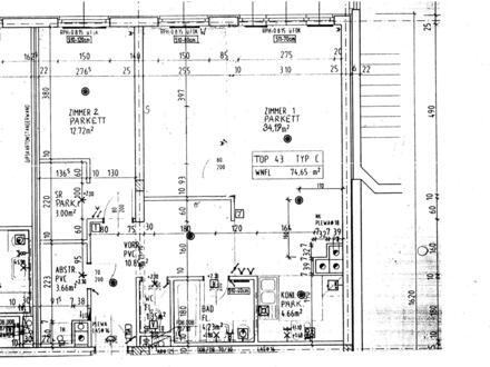 PRIVAT: 75m², helle 2-Zimmer Wohnung, Ruhelage im Grünen