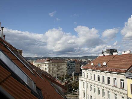 Voll ausgestattete 55 m² Loft-artiges Maisonette mit viel Licht über den Dächern von Wien