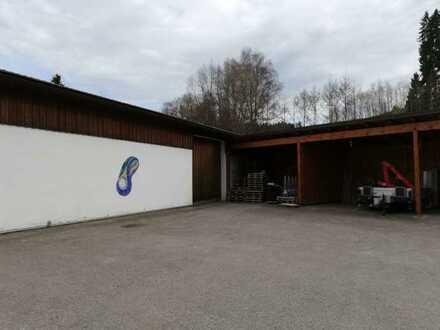 Lagerhalle mit Bürogebäude